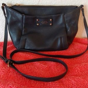 Vince Camuto Small Blk Leather Crossbody